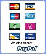 DIY Conservatory Deals accepts PayPal, cheques, and most other major debit and credit cards